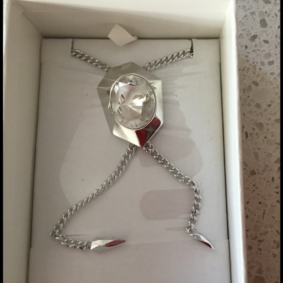 top-rated professional shopping best selling Swarovski Reverse Tie Sterling crystal Necklace ⚜️ NWT